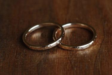 自分たちで作る結婚指輪♪