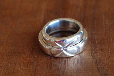 ふたりでデザインしてふたりで作った結婚指輪♪