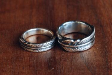 お客様が作った羽の結婚指輪♪
