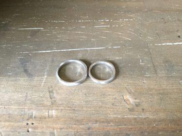 オーダーの結婚指輪!制作中♪