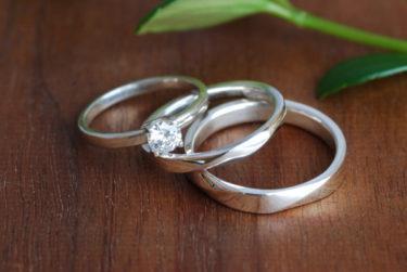 結婚指輪と婚約指輪♪