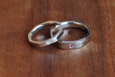 オーダーのSeiオリジナルの結婚指輪♪