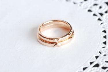 お客様が自分たちで作ったカワイイ結婚指輪♪