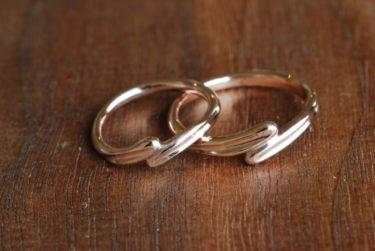 ふたりで考えたデザインの結婚指輪♪