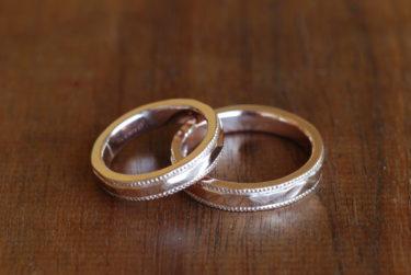 自分たちで作るカッコカワイイ結婚指輪♪