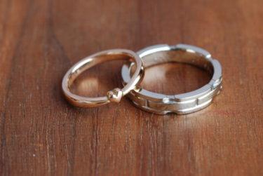 ふたりで好みのオーダーの結婚指輪♪